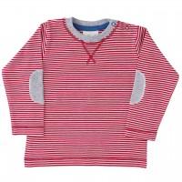 Shirt luftig leicht rot gestreift