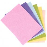 Bastelfilz pastell – Bio Wollfilzplatten 6 Stück 20x15cm