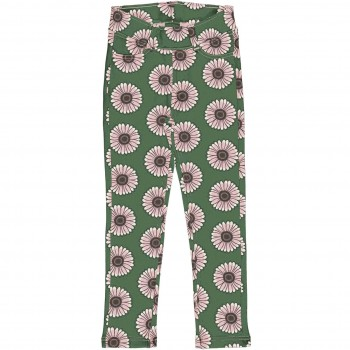 Sweat Treggings bequem Ringelblumen in grün