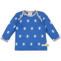 Wolle Baumwolle Shirt Dachs blau