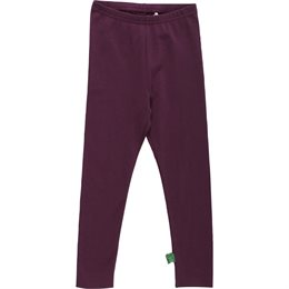 Bio Kinder Leggings weich uni wine