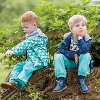 Leichte robuste Bio Kinderhose grün