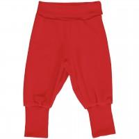 Weiche Babyhose Nicki rot mit breitem Bund
