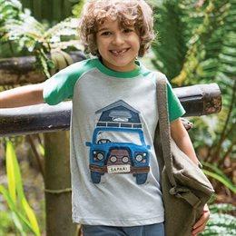 Leichtes Jungen T-Shirt - Safari Bus
