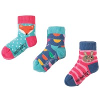 Socken mit gutem Sitz 3er Pack rosa