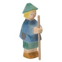 Hirtenbüblein Holzfigur 10 cm hoch