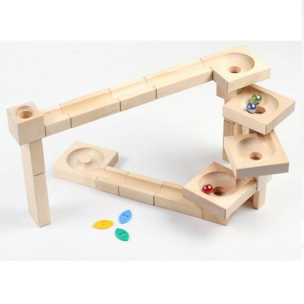Kugelbahn aus Holz ab 4 Jahren, 47 Teile