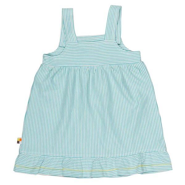 Mädchen Sommerkleid gestreift blau