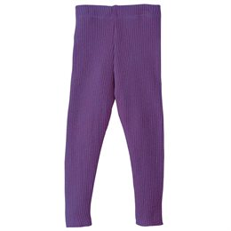 Wolle Leggings warm mitwachsend lila