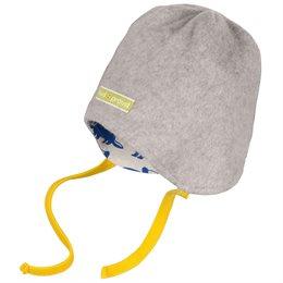 Warme Wendemütze leichter Fleece grau