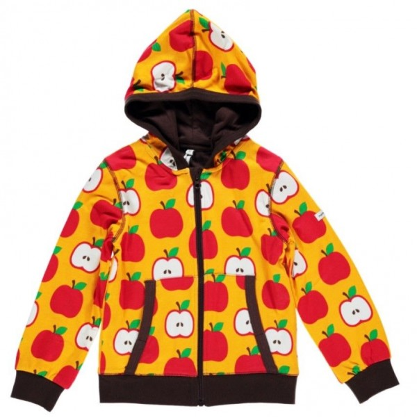 Jacke doppellagig mit soften Bündchen mit Kapuze - Apfel