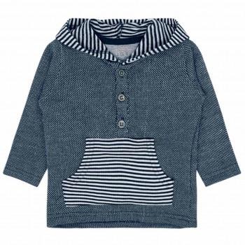 Kapuzen- Sweatshirt navy Streifen