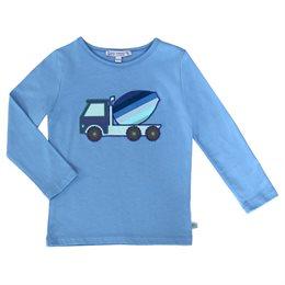 Betonmischer Shirt aufgenäht super edel blau