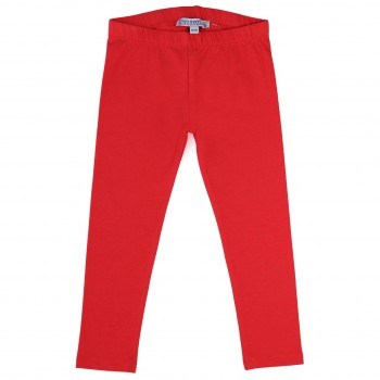 Elastische rote Uni Basic Leggings