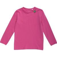 Glattes dehnbares Basic Shirt für Mädchen - pink