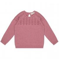 Edler Mädchen Strick Pullover in rosa