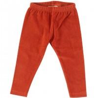 Warme Velour Leggings in orange