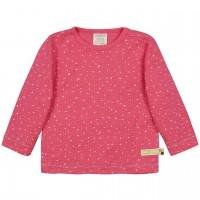 Shirt langarm Waffelstruktur Herzchen pink