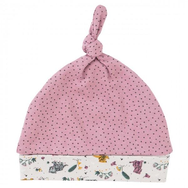 Mädchen Zipfelmütze rosa Pünktchen