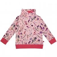 Sweat Pullover Blumen-Druck rosa