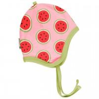 Babymütze leicht mit Ohrenschutz Wassermelonen