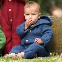 Woll Fleece Overall mitwachsend blau