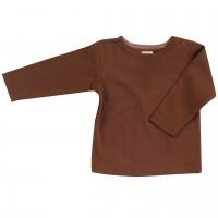 Edles Interlock uni Shirt in braun