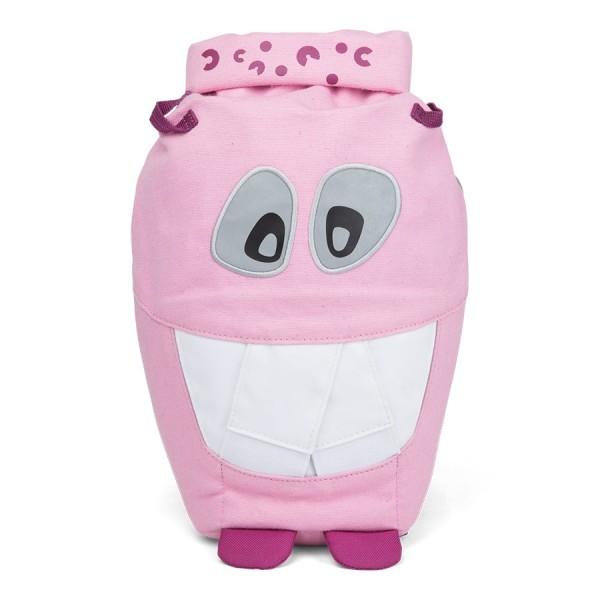 Bio Kinder Rucksack mit Augen-Reflektoren rosa