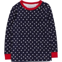 Navy rotes Mädchenshirt mit Softbündchen