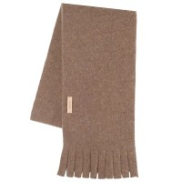 Wolle Fleece Kinderschal beige