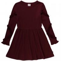 Hochwertiges Ripp Kleid in dunkelrot