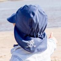 Sonnenhut mit Ohrenschutz UV 80 kurzer Nackenschutz