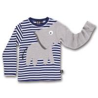 Vorschau: Elefanten Langarmshirt blau gestreift