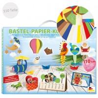 Bastelkoffer Papier universal - 110 Teile