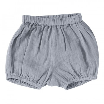 Musselin Shorts locker pastell-blau