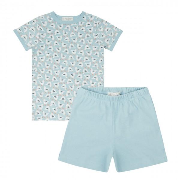 Sommer Kinder Schlafanzug kurz Möwen
