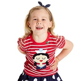 Cooles Mädchen Shirt Seefrau rot