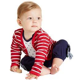 Bio Kinder Jäckchen mit Druckknöpfen rot