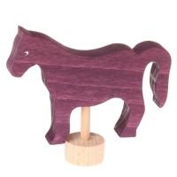 Grimms Stecker Pferd violett Geburtstagsspirale