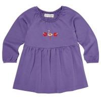 Baby Tunika langarm mit Raffung - lila