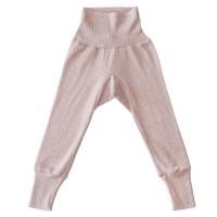 Baumwolle Wolle Seide Leggings rosa meliert