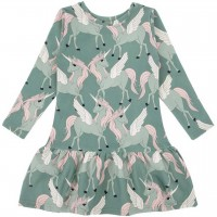 Kleid langarm Pegasus grün