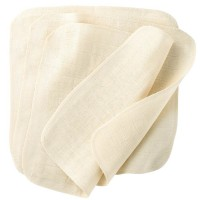Mullwaschlappen, 5er Pack 25x25 cm 100% Baumwolle aus kbA (k