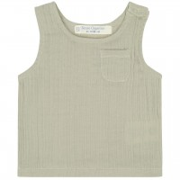 Tank Top Musselin in beige-grau