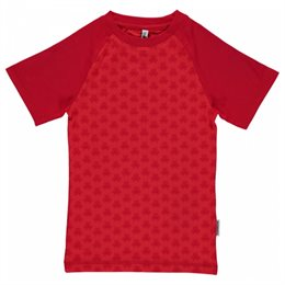Slim Fit T-Shirt schmaler Schnitt Roboter rot