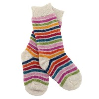Vorschau: Lange Vollplüsch Socken Wolle warm dick natur
