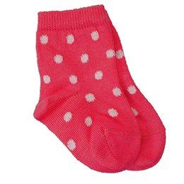 Öko Babysöckchen pink Punkte