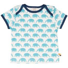 Kurzarm Shirt blaue Nasenbären