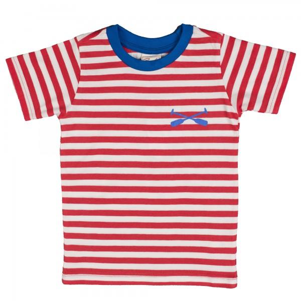 bd491a2af2c95b Kurzarm Shirt Sommerlich Gestreift blau Weiß