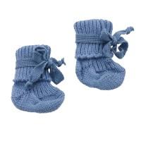 Bio warme Babysocken kbT Schurwolle - hellblau